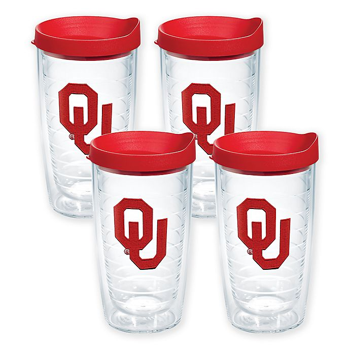 Alternate image 1 for Tervis® University of Oklahoma Sooners 16-Ounce Tumblers (Set of 4)