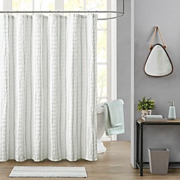 Bee & Willow™ Home Watermill Textured Plaid Shower Curtain