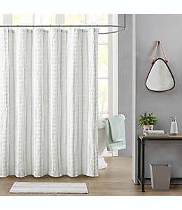 Cortina de baño Bee & Willow™ Home Watermill texturizada con diseño a cuadros