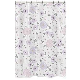 Sweet Jojo Designs Watercolor Floral Shower Curtain