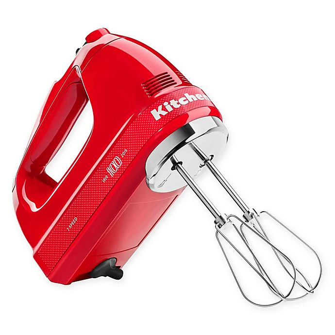 Kitchenaid Queen Of Hearts 7 Speed Hand Mixer In Red Bed