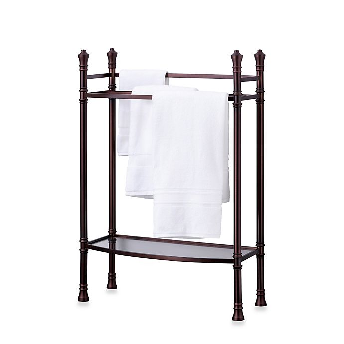 Monaco No Tools Towel Stand In Oil Rubbed Bronze Bed