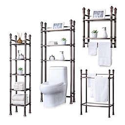 Monaco No Tools Bath Furniture in Brushed Titanium