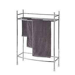 No Tools Free Standing Towel Stand in Chrome
