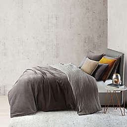 O&O by Olivia & Oliver™ Velvet Twin Duvet Cover Set in Charcoal