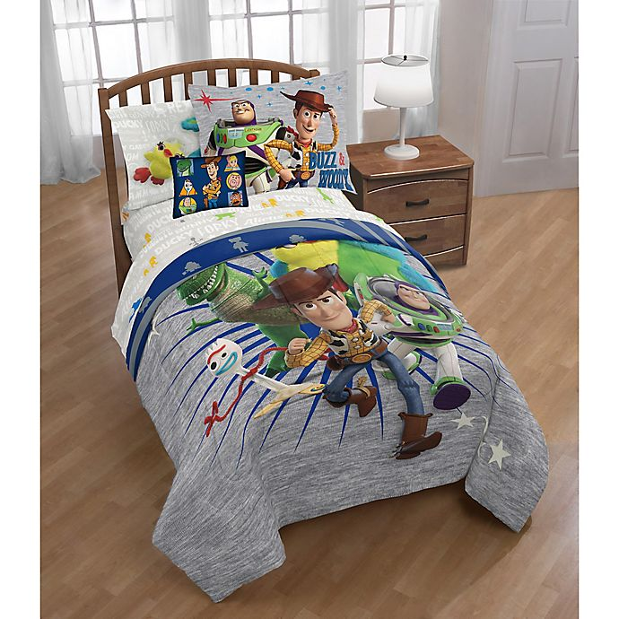 Disney 174 Toy Story 4 3 Piece Twin Full Comforter Set Bed