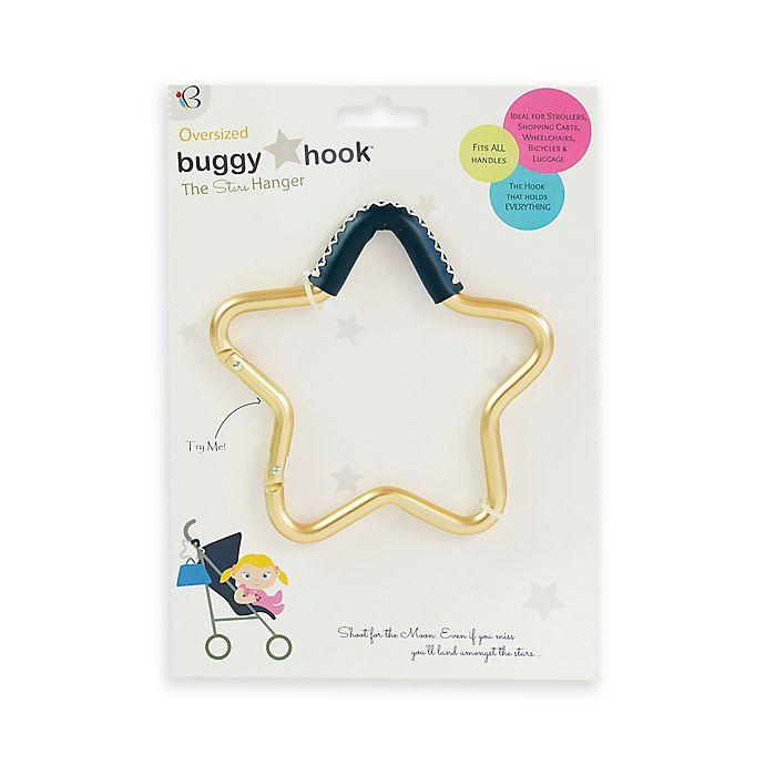 Alternate image 1 for Buggygear™ Star Stroller Hook with Leather Accent in Gold/Navy