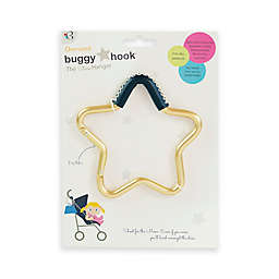 Buggygear™ Star Stroller Hook with Leather Accent in Gold/Navy
