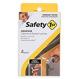 Safety 1st® 4-Pack Adhesive Cabinet and Drawer Latches