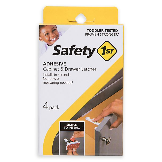 Alternate image 1 for Safety 1st® 4-Pack Adhesive Cabinet and Drawer Latches