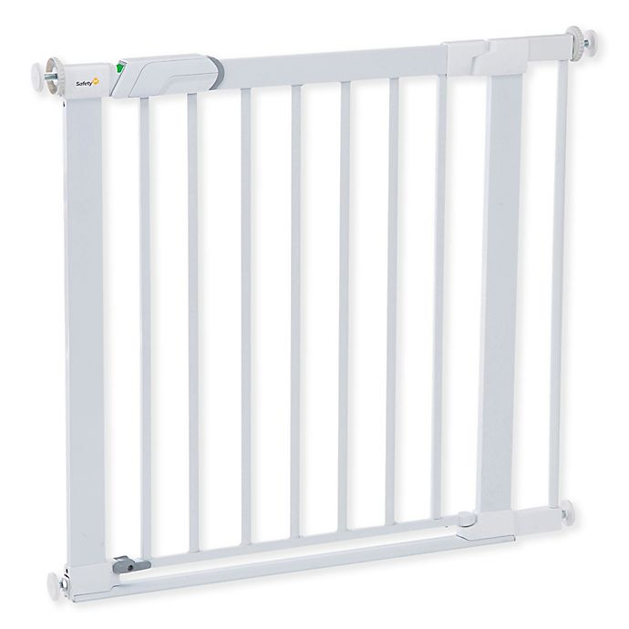 Alternate image 1 for Safety 1st® Flat Step Metal Pressure-Mount Safety Gate in White