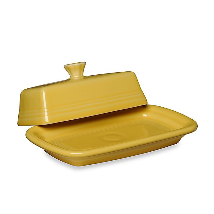 Alternate image 1 for Fiesta® Extra-Large Covered Butter Dish in Sunflower