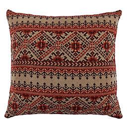 HiEnd Accents Wilson Fair Isle European Pillow Sham in Red