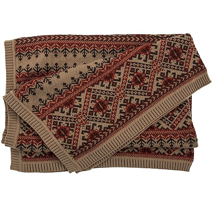 Alternate image 1 for HiEnd Accents Wilson Fair Isle Throw Blanket in Red