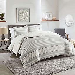 UGG® Eclipse Reversible Twin Duvet Cover Set in Grey