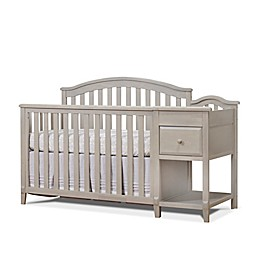 Sorelle Brittany 4-in-1 Convertible Crib and Changer in Heritage Fog