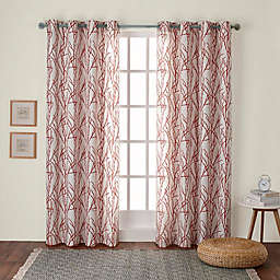 Branches 2-Pack 84-Inch Grommet Window Curtain in Orange