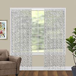 Bristol Garden 96-Inch Rod Pocket Window Curtain Panel in White