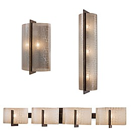 Minka Lavery® Clarté Lights in Patina Iron with Lace Glass Shade