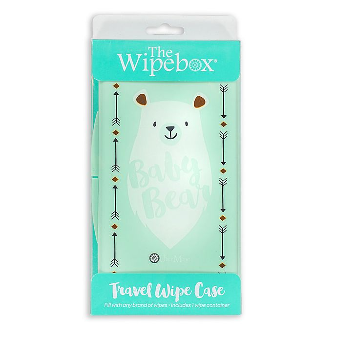 Alternate image 1 for Uber Mom® Bear Wipebox® in Teal