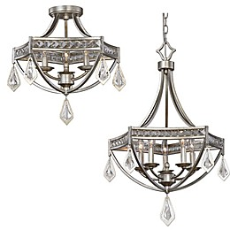 Uttermost Tamworth Light Collection in Silver Champagne