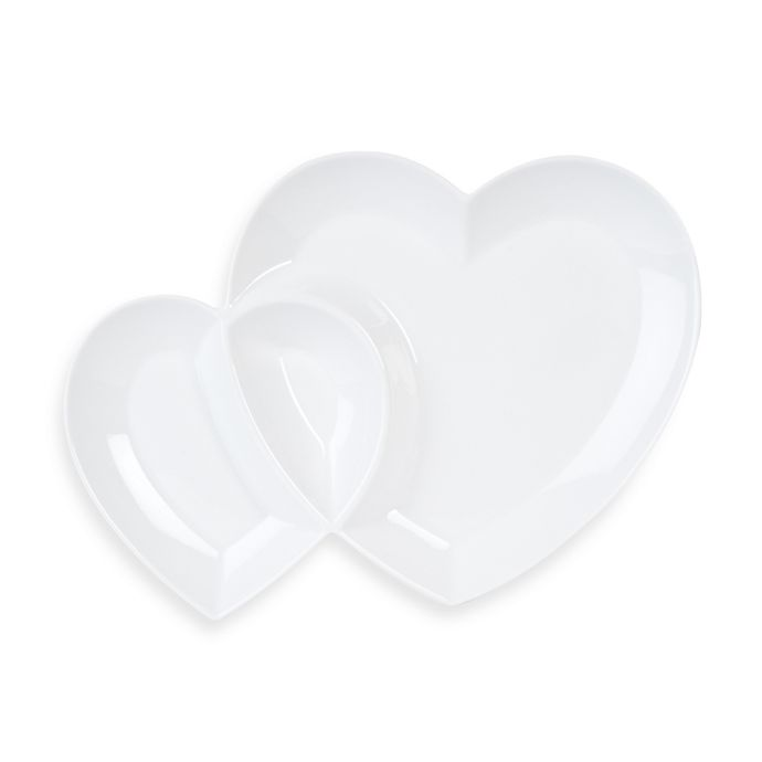 Alternate image 1 for Everyday White® by Fitz and Floyd® Sweetheart Tray