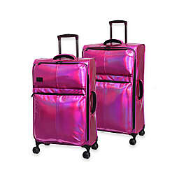 it Girl Spellbound Holographic Softside Spinner Checked Luggage