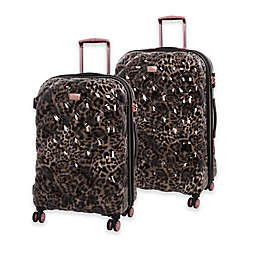 it Girl Opulent Hardside Spinner Checked Luggage in Leopard