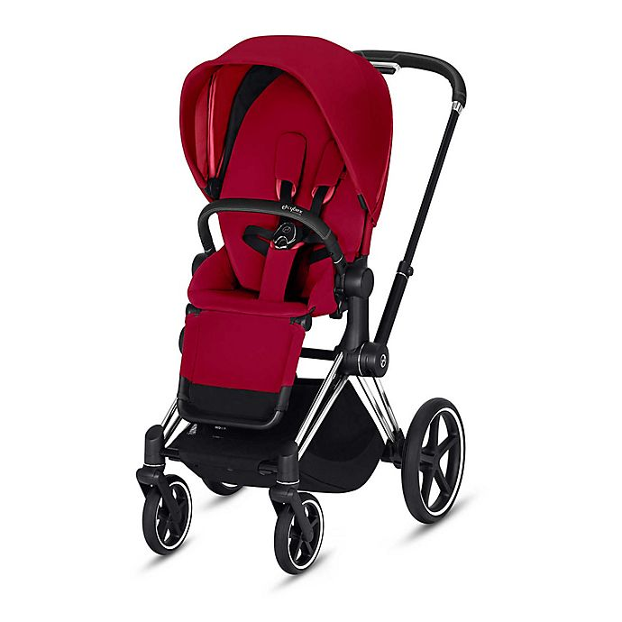 Alternate image 1 for CYBEX Priam Stroller with Chrome/Black Frame and True Red Seat