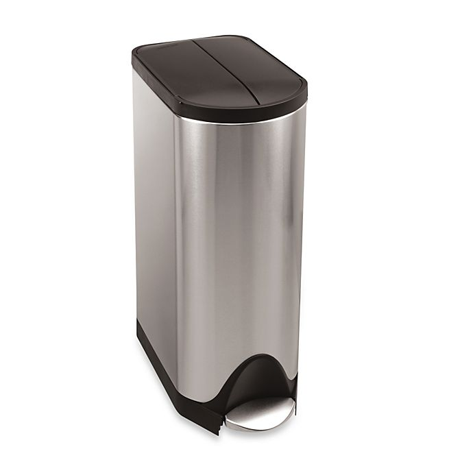 Simplehuman Brushed Stainless Steel Erfly 30 Liter Step On Trash Can