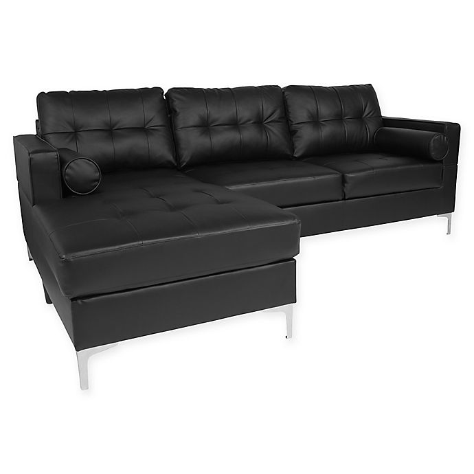 Pleasant Flash Furniture Riverside Faux Leather Sectional Sofa Bed Pabps2019 Chair Design Images Pabps2019Com