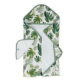 Little Unicorn™ 2-Piece Tropical Hooded Towel and Washcloth Set in Green
