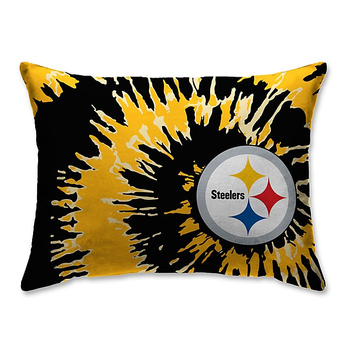 Alternate image 1 for NFL Pittsburgh Steelers Plush Tie Dye Standard Bed Pillow