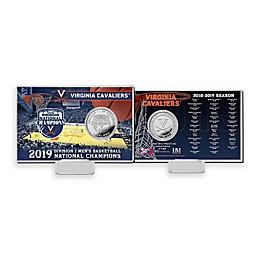 University of Virginia 2019 Men's Basketball Championship Silver Coin Card Display