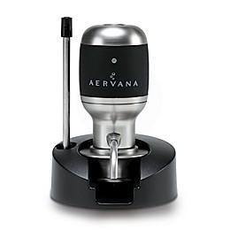 Aervana Original 1-Touch Luxury Wine Aerator in Brushed Nickel