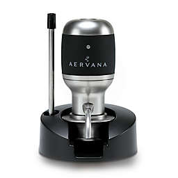 Aervana Original 1-Touch Luxury Wine Aerator in Brushed Nickel