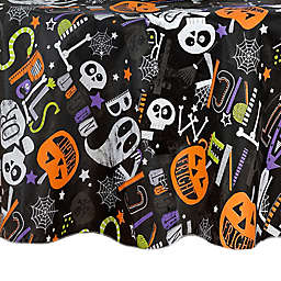 ELRENE Halloween Night 70-Inch Round Vinyl Tablecloth