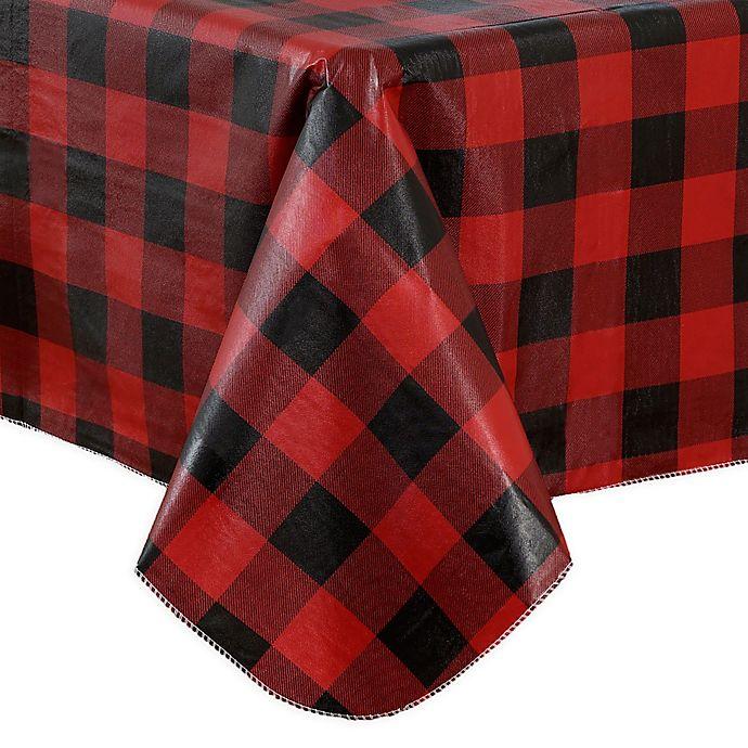 Alternate image 1 for Holiday Buffalo Plaid Vinyl Tablecloth