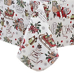 Home for the Holidays Vinyl Tablecloth