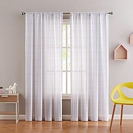 My World® Rainbow Clipped Dot 84-Inch Window Curtain Panel Pair