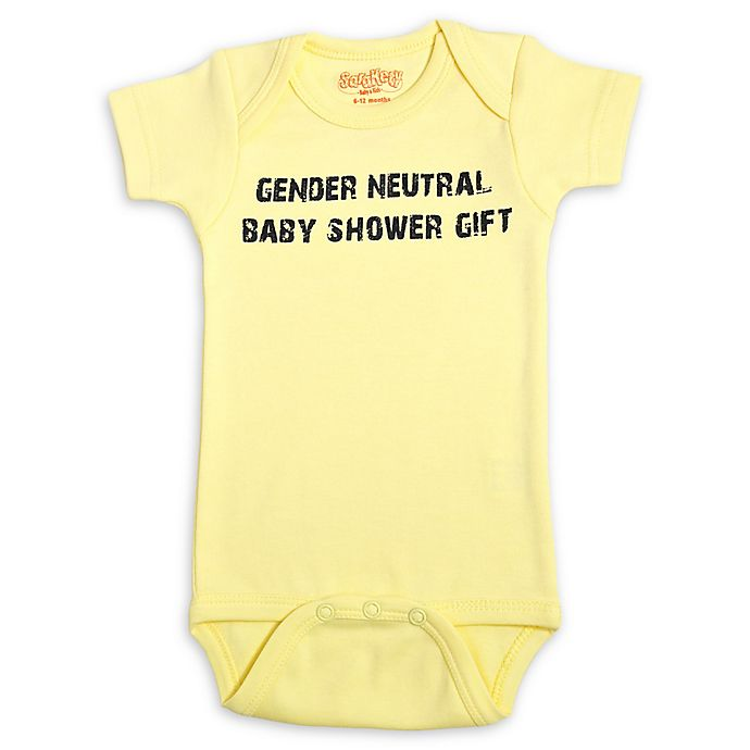Alternate image 1 for Sara Kety Gender Neutral Baby Shower Gift Bodysuit in Yellow