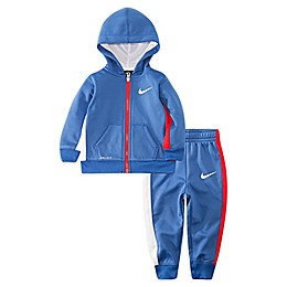 Nike® 2-Piece Asymmetrical Therma Hoodie and Jogger Set in Blue