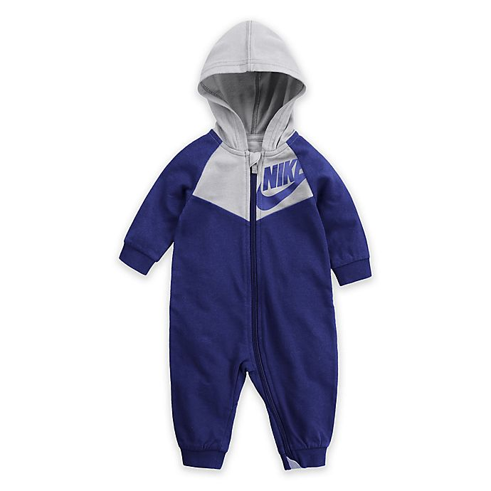 Alternate image 1 for Nike® Play All Day Hoodie Coverall in Blue