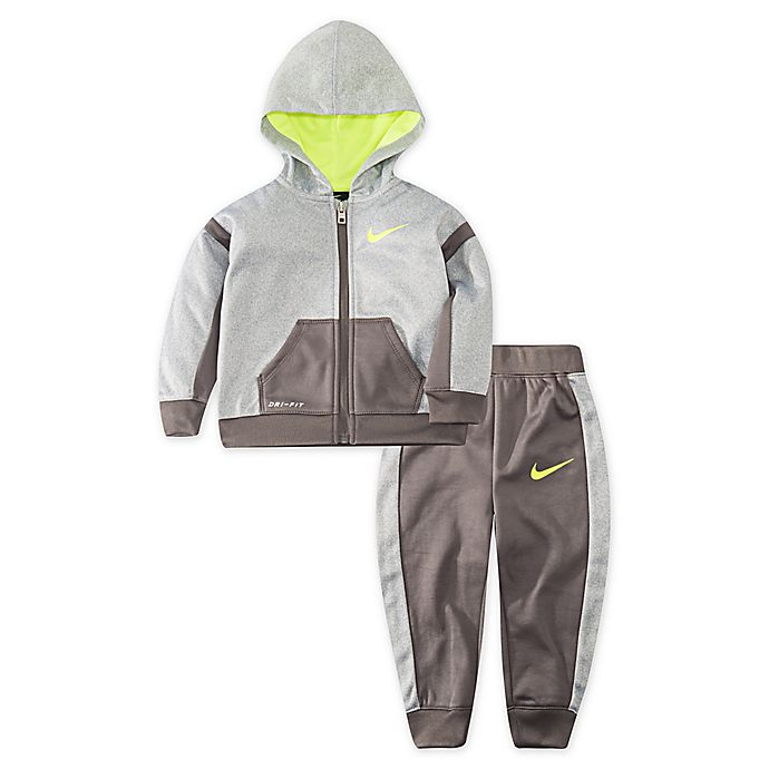 Alternate image 1 for Nike® 2-Piece Therma Speckle Hoodie and Pant Set in Grey