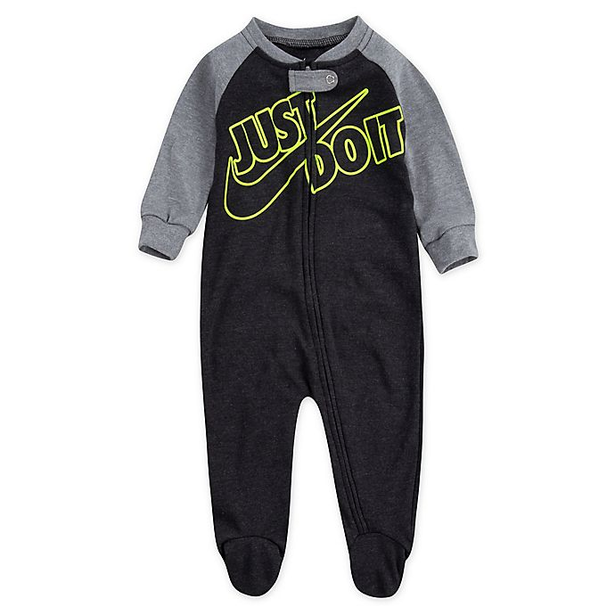 Alternate image 1 for Nike® Just Do It Volt Footie in Black