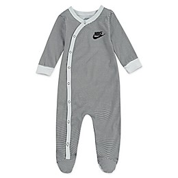 Nike® Striped Footed Coverall in White
