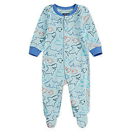 Hurley® Shark Attack Footed Coverall in Teal
