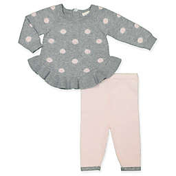 Clasix Beginnings™ by Minibasix® 2-Piece Sweater and Pant Set in Grey/Pink