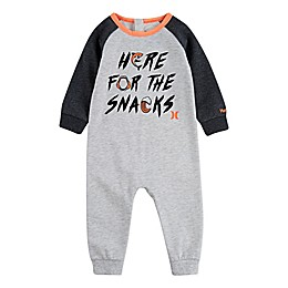 "Hurley® ""Here For The Snacks"" Raglan Coverall in Heather Grey"
