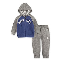 Hurley® 2-Piece Chest Hit Toddler Hoodie and Jogger Set in Blue
